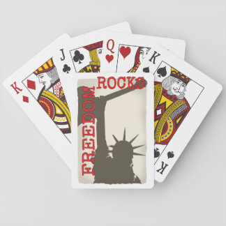 Freedom rocks playing cards