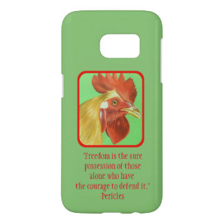 Freedom rooster green phone case
