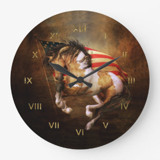 Freedom Run Wild Horse Wall Clock