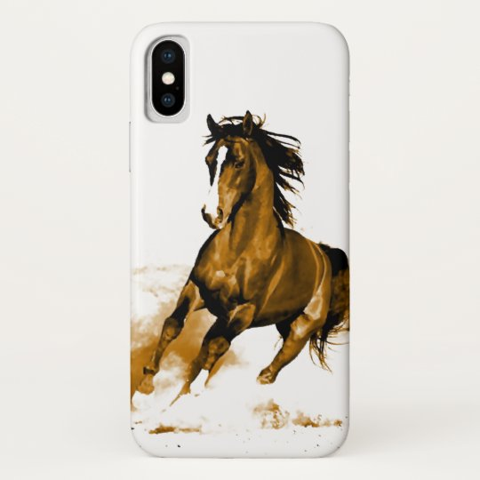 Freedom - Running Horse iPhone X Case