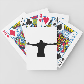 Freedom Silhouette Bicycle Playing Cards