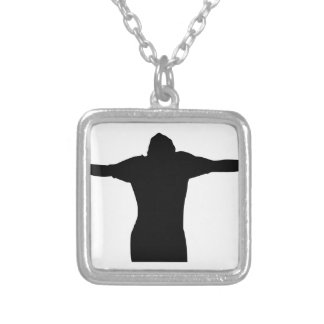 Freedom Silhouette Silver Plated Necklace
