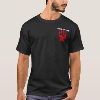 Freedom (small logo) atheist men's t-shirt