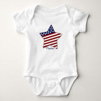 Freedom Star Baby Bodysuit