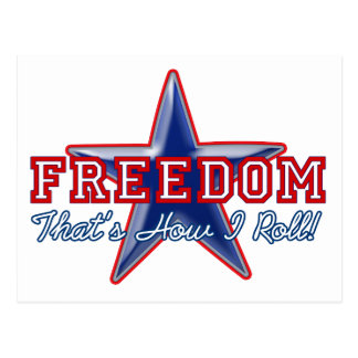 Freedom Star, How I Roll Postcard
