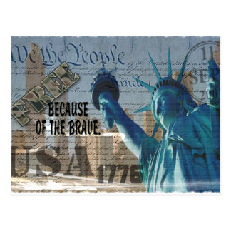 FREEDOM - STATUE OF LIBERTY - WE THE PEOPLE POSTCARD