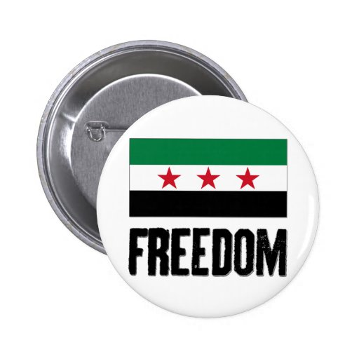 Freedom - Syria 2 Inch Round Button