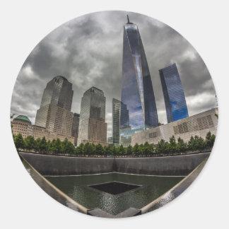 Freedom Tower Classic Round Sticker