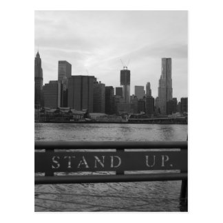 """Freedom Tower New York City - """"STAND UP """" Postcard"""