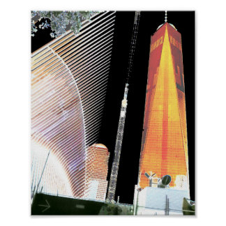 Freedom Tower New York formerly World Trade Centre Poster