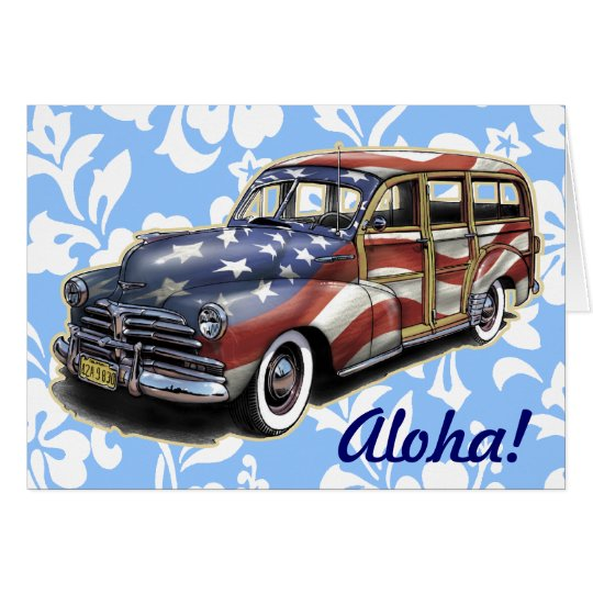 Freedom Woody Hawaiian Greeting Card