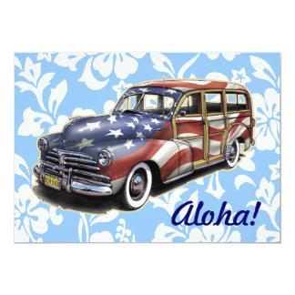 Freedom Woody Hawaiian Party Invitations