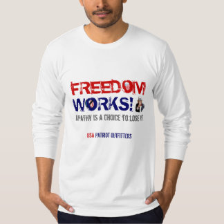 Freedom Works! Long Sleeve Men's T-Shirt