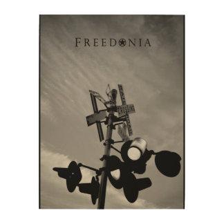 Freedonia Wood Panel - RR Crossing