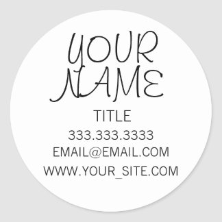 Freehand Simple Plain Classic Round Sticker