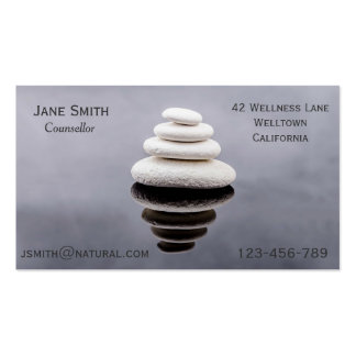 Freelance Counsellor Therapist Zen stones Business Card Templates