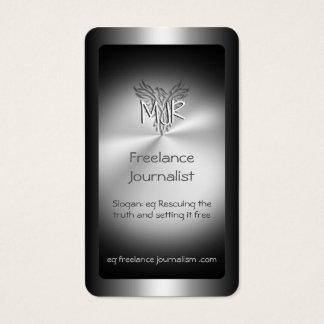 Freelance Journalist, metal-effect phoenix Business Card