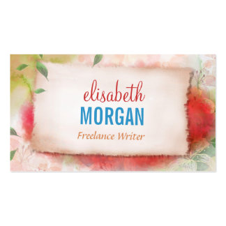 Freelance Writer - Artistry Watercolor Floral Pack Of Standard Business Cards