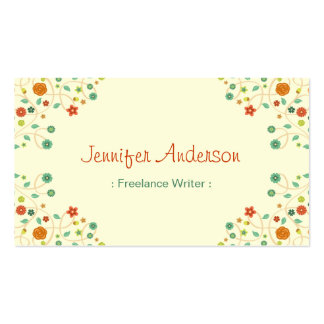 Freelance Writer - Chic Nature Stylish Pack Of Standard Business Cards