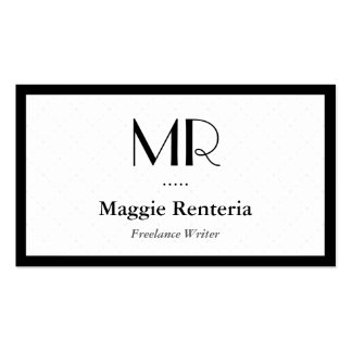 Freelance Writer - Clean Stylish Monogram Pack Of Standard Business Cards