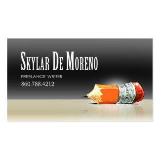 Freelance Writer Editor 5 Stylish Pack Of Standard Business Cards