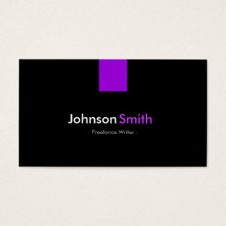 Freelance Writer - Modern Purple Violet Business Card
