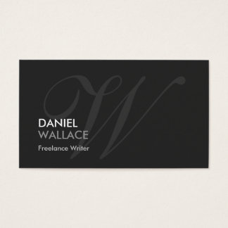Freelance Writer - Modern Swash Monogram Business Card