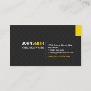Freelance writer business cards profile cards zazzle ca freelance writer modern twill grid business card colourmoves