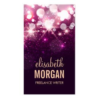 Freelance Writer - Pink Glitter Sparkles Pack Of Standard Business Cards