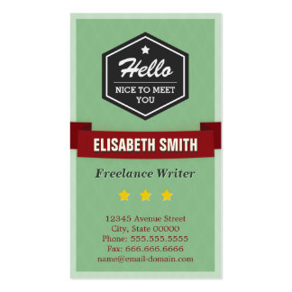 Freelance Writer - Vintage Retro Stylish Pack Of Standard Business Cards