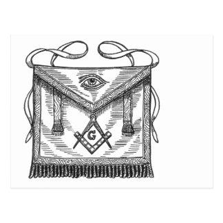 Freemason Apron Postcard