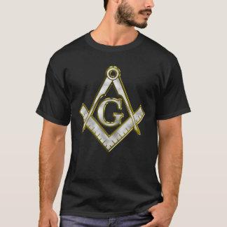 Freemason Bling Square Compass Gold/Silver T-Shirt