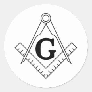 Freemason Classic Round Sticker