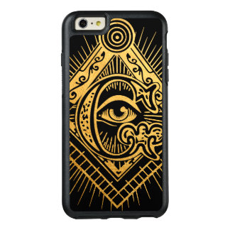 Freemason Golden Symbol OtterBox iPhone Case