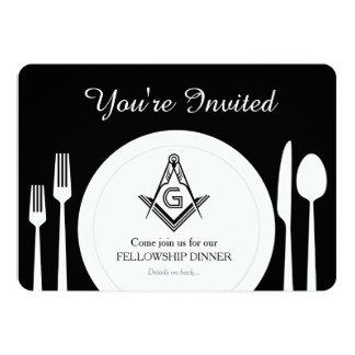 Freemason Invitation, Masonic Dinner Custom Invite