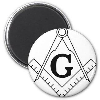 Freemason masonic logo 2 inch round magnet
