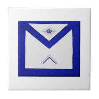 Freemason Master's Apron Ceramic Tile