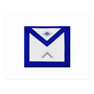 Freemason Master's Apron Postcard
