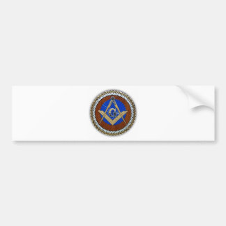 freemason NWO conspiracy square & compass Bumper Sticker