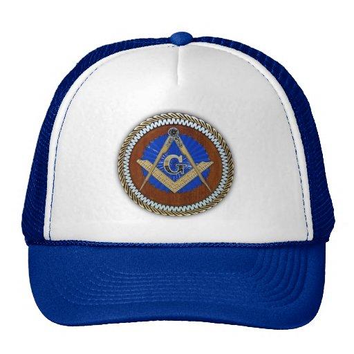 freemason NWO conspiracy square & compass Mesh Hat