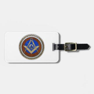freemason NWO conspiracy square & compass Luggage Tag