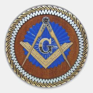 freemason NWO conspiracy square & compass Round Sticker
