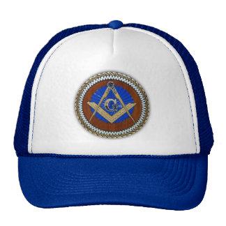 freemason NWO conspiracy square & compass Trucker Hat