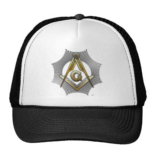 Freemason square and compass trucker hats