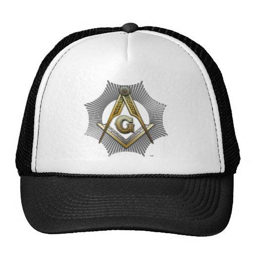 Freemason square and compass trucker hats