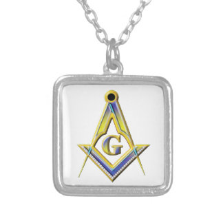 Freemason Square & Compasses Silver Plated Necklace