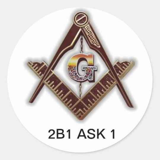 Freemason sticker