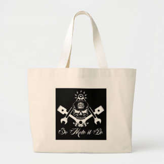 Freemason-Widows-Sons-Masonic-Hotrod-Logo-20160407 Large Tote Bag