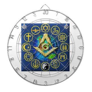 Freemasonry All Religions Dartboard