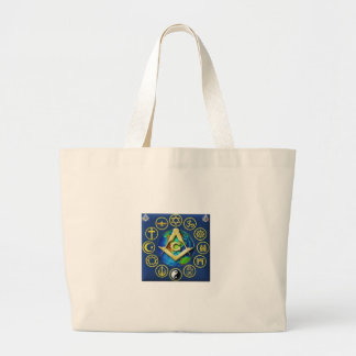 Freemasonry All Religions Large Tote Bag